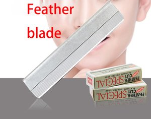 10 Pcs Lot Feather Blade Safety Razor Blades Edge Shaver Beard Hair Shaving Blades For Men Face Personal Care For Free DHL