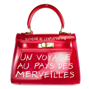Klare PVC Gelee Frauen Handtaschen Süßigkeiten Farbe Transparente Schulter Messenger Bags für Dame Mädchen Geldbörse Brief Große Kapazität Bolsa1