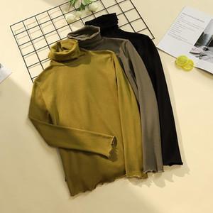 Slim Fit Casual Modal Basis Long Sleeve Tshirt Women Turtleneck Elegant Tops for Women Plus size Plus velvet thickening