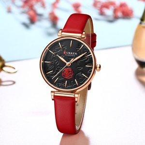 Womens Suitor Metal and Leather Dress Quartz Watch