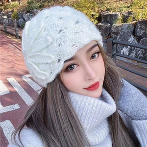 2021 Hats For Women Soild Lace Stretch Turban Hat Knitting Hair Loss Head Scarf Wrap Gorras Hombre Casquette