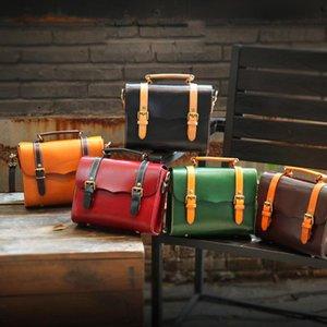 Bolsas de cuero genuino de las mujeres, bolsas de cuero de piel de vaca hechas a mano de alta calidad / bolsa de cruz para las niñas de las señoras
