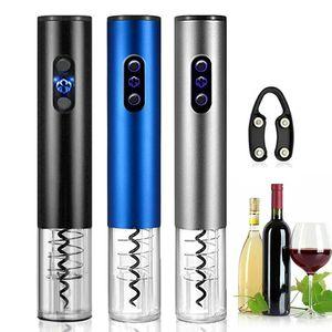 Otomatik Şişe Açacağı Elektrikli Kırmızı Şarap Açacakları Stoper Şarap Tirbuşon Folyo Kesici Cork Out Aracı Mutfak Aksesuarları Gadget'lar
