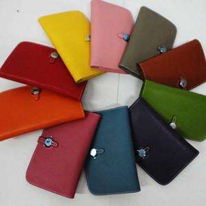 2021 HOT New Brand Passport designer Genuine Leather Cell Phone Wallet Purse fashion Men's women's Herrmmes H Wallets Holders