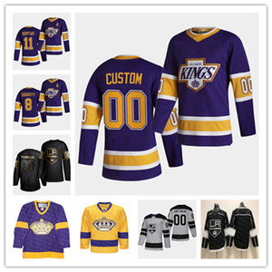 2021 La Los Angeles King Reverse Retro Jersey Hockey Quinton Byfield Dustin Brown Jeff Carter Drew Dourtty Anze Kopitar Jonathan Quick Spenc