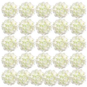 Simulation Silk Hydrangea Tête Fleurs artificielles Pour Mariage Maison Centrale de jardince DIY Fleur Décoration JK2101PH