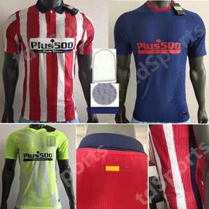 20 21 Giocatore Atletico Soccer Madrid Jerseys Versione Joao Felix Camisetas de fútbol Suarez Correa Jersey 2020 2021 Camicia da calcio