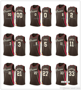2020-21 City Damian Lillard CJ McCollum Hassan Whiteside Jusuf Nurkic Carmelo Anthony Gary Trent Derrick Jones Jr. Robert Covington Jersey