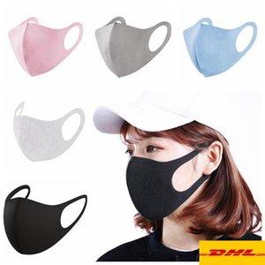 الأسهم الآن! أزياء لنا الملحقات مكافحة الغبار الوجه غطاء الفم PM2.5 قناع التنفس الغبار الكبار الاطفال قابل للغسل قابلة لإعادة الاستخدام الجليد الحرير القطن