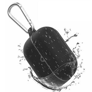 حالة مقاومة للماء ل AirPods Pro تحت الماء غطاء سماعة حالات صدمات للحنجرة الهواء برو للماء earpbuds قذيفة مع مشبك معدني