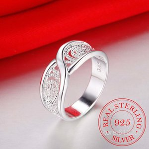 Gorgeous Rounded Hollow Shiny Ring Wholesale Price Fashion 925 Jewelry Sterling Silver Ring Engagemetn Wedding Party Jewelry