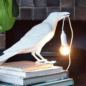 Seletti Bird Table Lamp Italian Modern Resin Crow Desk Light for Bedroom Living Room decoration Led desk Light Fixtures