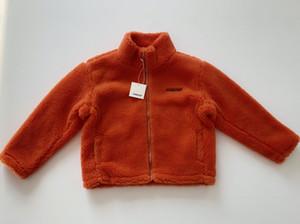 La mejor calidad de lana de lana chaqueta hombres mujeres invierno cálido cachemira cremallera chaqueta y abrigos naranja / negro