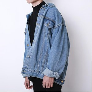 2020 Новый Корейский Свободный Невазительный Джинсовая Куртка Мужской Ретро Пальто Джинсовые Мужчины Женщины Одежда1
