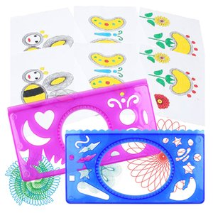 Children Flower Ruler Magic Set DIY Puzzle Painting Graffiti Child Creative Educational Toy Gifts