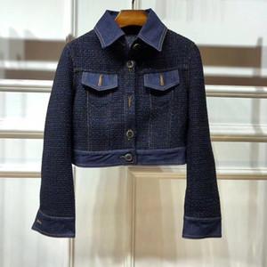 Cappotti per pista di Milano 2020 Cappotti a maniche lunghe con scollo a risvolto Cappotti Designer Cappotti Designer Brand Stessi Giacche stile 0907-4