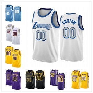 Loss personalizzatoAngeles.Lakers.Lebron 23 James Anthony 3 Davis Marc 33 Gasol Alex 4 Caruso MagicJersey di basket di Johnson City