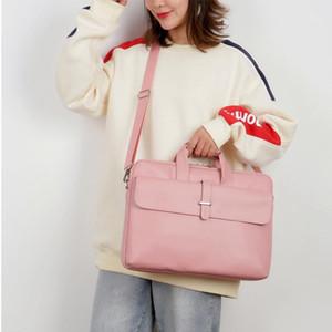 حقائب الكمبيوتر المحمول حقيبة الكمبيوتر الإناث الأزياء بو الجلود 15.6 بوصة لطيف الوردي السيدات حقيبة كمبيوتر محمول للماء