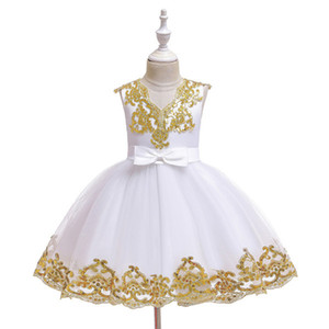 Dress Flower Girl Princess Pettiskirt Kids Christmas Show Costume Tulle Flower Pageant Birthday Party Wedding Bridesmaid For 0-11 Years Old