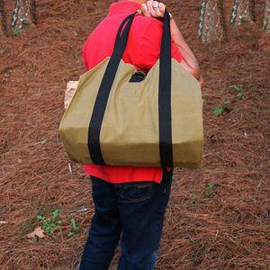 Mojoyce brennholzaufbewahrungstasche leinwand tragbare outdoor camping holz träger passende Beutel log camping outdoor halter tragen