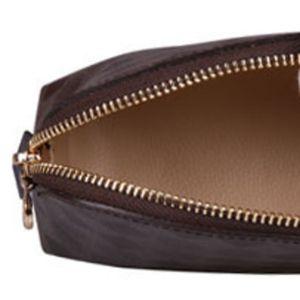 louis vuitton LV Frete grátis Top Quality Tela Oxidante Couro Cosmetic Bolsa M47515 Famoso Designer de Marca Zippy Heartry Bag Makeup Case