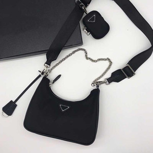 Womens Luxurys Designers Cross Body Bags bolsas bolsas nylon re-edição 2005 hobo bolsa de ombro de lona mulheres cadeia crossbody cadeia tecla