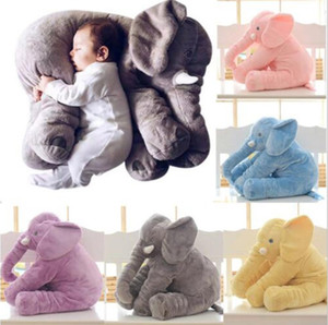 60cm 40cm Plush Elephant Toy Baby Sleeping Back Cushion Soft stuffed animals Pillow Elephant Doll Newborn Playmate Doll Kids toys squishy