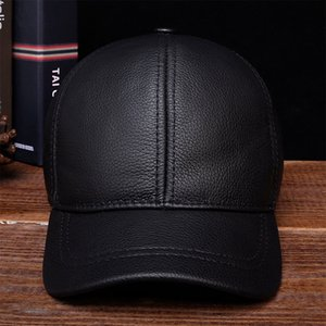 HL130 2020 Men's genuine leather baseball cap hat brand new style spring brand new style winter Russian warm one fur caps hats Y1130