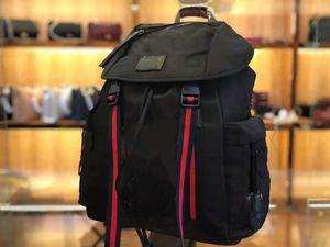 Projeto designer de alta qualidade flor preta mochila grande capacidade, pano de Oxford moda retro masculino mochila de notebook.