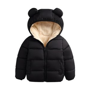 Baby Winter Jacket Coat Kids Casual Cute Ear Hooded Down Jacket Overalls Snow Warm Clothes For Children Toddler Boys Girls 2020 Q1123
