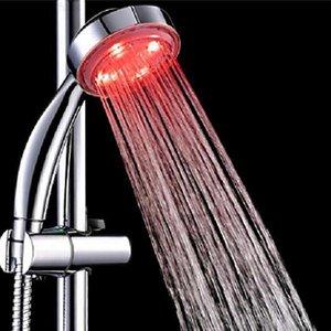 7 색 변경 머리 샤워 헤드 다채로운 LED 램프 조명 벽 마운트 욕실 액세서리