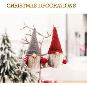 Christmas Swedish Gnome Scandinave Tomte Santa Nisse Nordic Peluche elf elf Table de jouet Ornement Xmas Arbre Décorations AHC3988