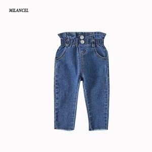 Milancel Skinny Baby Girls Denim Pantalones Casual Boys Solid Jeans para niños Y200409