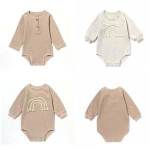 Jumpsuit nouveau-né Triangle à manches longues Ha Vêtements Baby Romper costume Pure Spring et Automne Bébé Escarpent Vêtements Zyy461 260 K2