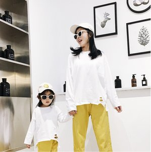 2020 Spring Autum Matching Family Outfits Mother And Daughter Clothes Long Sleeve Home Wear Shirt Cotton Z1121
