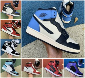 1 High OG Pallacanestro Scarpe Bred Punta Bannato Royal Blue Shadow Green Court Viola Black Framment Retroes 1s Obsidian Asg Shoe Sports Shoe