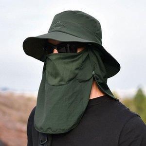 Широкие шляпы Breim Hats Открытый Vissen Cap Wandelen Vizier Mosquito Pozect UV Bescherming Gezicht Hals Cover Zon Beschermen Летние Hats1