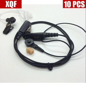 Walkie Talkie XQF 10PCS Covert Acoustic Tube Headset For Motorola GP328plus GP338plus GP344 GP388 Two Way Radio