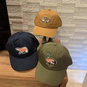 2021 New Polar Bear 자수 야구 남성 여성 고품질 모자 스케이트 보드 네이비 블루 브라운 인간이 만든 모자 KP6V