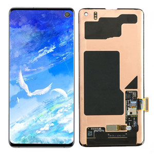 Originele Super Amoled For Samsung Galaxy S10 SM-G973 SM-G973F LCD Display Touch Screen Digitizer Assembly Replacement Wholesale spare parts