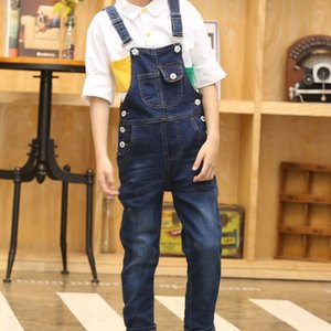 Dollplus Boy Overall Kids Denim Jumpsuit Children Overalls Jeans Spring Girls Autumn Boys Jeans Pants Cowboy Pockets Outwears Y200704