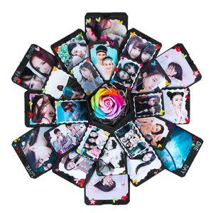 Шестигранный сюрприз взрыва коробки DIY Scrapbook Photo альбом для Валентина свадьбы день рождения подарок для подруги сюрприз HH9-3692