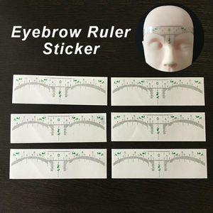 Microblading одноразовые бровей трафарет наклейка татуировки инструменты аксессуары постоянный макияж измерение формирования бровей шаблона для бровей