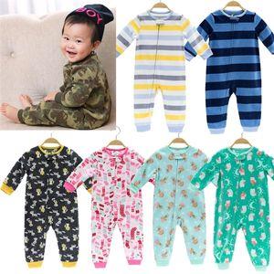 2020 Baby clothing Infant girls clothes fleece bebes boys outwear warm zipper little girls overalls pajamas jumpsuit romper Z1121