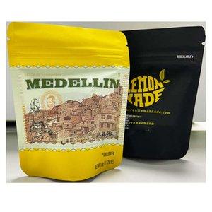 Packaging LemonNADE MEDELLIN MEDICAL Oler Bolso a prueba de olor 3.5G Cerradura con cremallera Puntas de pie Políces Embalaje exótico