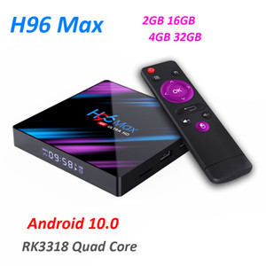 H96 MAX Smart TV Box Android 10.0 RK3318 4GB 32GB 4K WiFi Media Player Android 10 H96MAX TVBOX Youtube Set Top BOX
