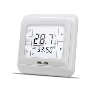 16A Digital Touch Screen Chauffage Thermostat Chambre Température Température Chauffeuse Contrôle automatique avec rétroéclairage LCD