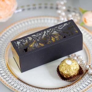 20pcs Candy Box Hollow Out Butterfly Wedding Candy Box Box Regali Prenotare Forniture per feste evento fai da te