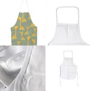 Sublimations-Leerzeichen Kitchen-Schürze DIY Weiß 70x48 cm Alle Jahreszeiten Ölfest-Antifouling-Leinwand-Uniformschal-Druck heißer Verkauf 89ex m2