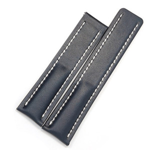 Free Shipping 22mm 24mm Genuine Leather Watchband Wristband Strap For Fit BREI Band Belt Navitimer Bracelet